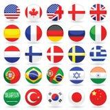 Coleção do ícone da língua do Web Foto de Stock Royalty Free