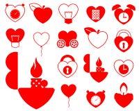 Coleção do ícone do coração - objeto ilustração royalty free