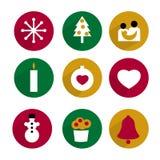 Coleção do ícone do Natal Imagens de Stock