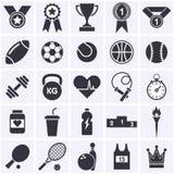 Coleção do ícone dos esportes Fotos de Stock