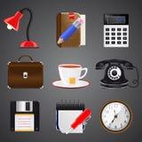 Coleção do ícone realístico Imagem de Stock