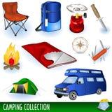 Coleção do acampamento Imagens de Stock