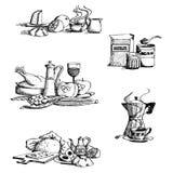 Coleção do alimento ilustração do vetor
