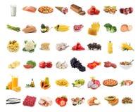 Coleção do alimento imagem de stock