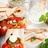 Coleção do alimento de Médio Oriente do árabe imagens de stock