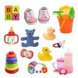 Coleção do bebê fotografia de stock