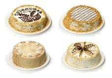 Coleção do bolo quatro Fotografia de Stock Royalty Free
