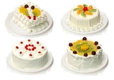 Coleção do bolo quatro Fotografia de Stock