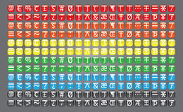 Coleção do botão dos símbolos da Web ilustração stock