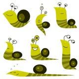 Coleção do caracol dos desenhos animados Fotos de Stock