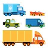 Coleção do carro do brinquedo Fotografia de Stock Royalty Free