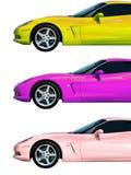 Coleção do carro rápido Fotografia de Stock Royalty Free