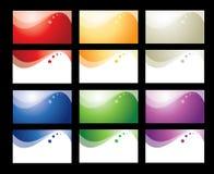 Coleção do cartão Imagens de Stock