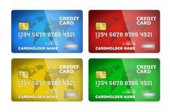 Coleção do cartão de crédito Foto de Stock Royalty Free