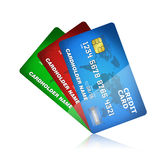 Coleção do cartão de crédito isolada Foto de Stock Royalty Free