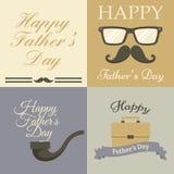Coleção do cartão do dia de pai Imagem de Stock Royalty Free