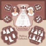Coleção do casamento para a noiva Imagens de Stock