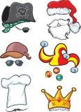 Coleção 2 do chapéu ilustração royalty free