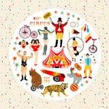 Coleção do circo ilustração stock