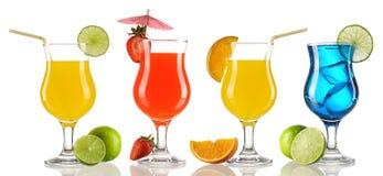 Coleção do cocktail imagem de stock royalty free