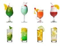 Coleção do cocktail Fotografia de Stock Royalty Free