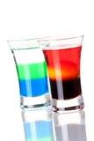 Coleção do cocktail do tiro: Anabólico e manhã Foto de Stock
