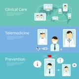Coleção do conceito da telemedicina Imagens de Stock