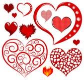 Coleção do coração ilustração do vetor