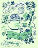Coleção do dia de Patricks dos objetos Imagens de Stock Royalty Free