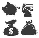 Coleção do dinheiro ilustração royalty free