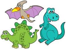 Coleção do dinossauro ilustração royalty free