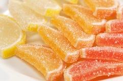 Coleção do doce de fruta do citrino fotos de stock royalty free