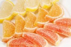 Coleção do doce de fruta do citrino imagem de stock