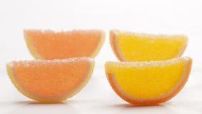 Coleção do doce de fruta do citrino fotografia de stock