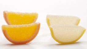 Coleção do doce de fruta do citrino fotos de stock