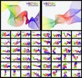 Coleção do efeito da fita de cinqüênta arcos-íris Foto de Stock
