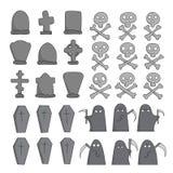 Coleção do esboço do cemitério Imagens de Stock
