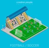 Coleção do esporte: jogo de fósforo do estádio do futebol/futebol Imagens de Stock Royalty Free