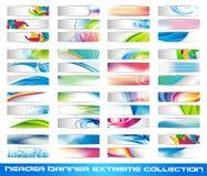 Coleção do extremo da bandeira de encabeçamento Imagens de Stock