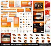 Coleção do extremo dos elementos do projeto de Web