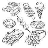 Coleção do fast food ilustração royalty free