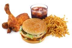 Coleção do fast food fotografia de stock
