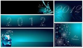 Coleção do Feliz Natal e do ano novo feliz Imagens de Stock Royalty Free
