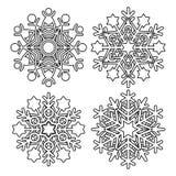 Coleção do floco de neve do vetor Imagens de Stock