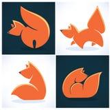Coleção do Fox ilustração royalty free