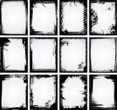 Coleção do frame de Grunge Ilustração do Vetor