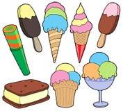 Coleção do gelado Fotografia de Stock Royalty Free