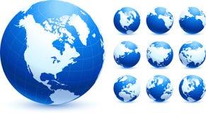 Coleção do globo Imagens de Stock