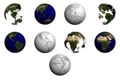 Coleção do globo Imagem de Stock