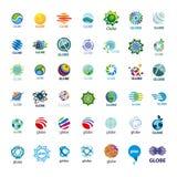 Coleção do globo dos logotipos do vetor ilustração stock
